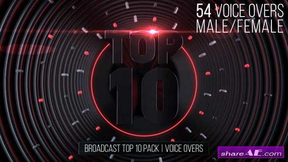 Videohive Broadcast Top 10 Pack   Voice Overs » free after effects templates   after effects intro template   ShareAE