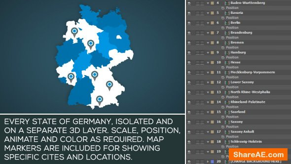 Videohive Brazil Map Kit » free after effects templates   after effects intro template   ShareAE