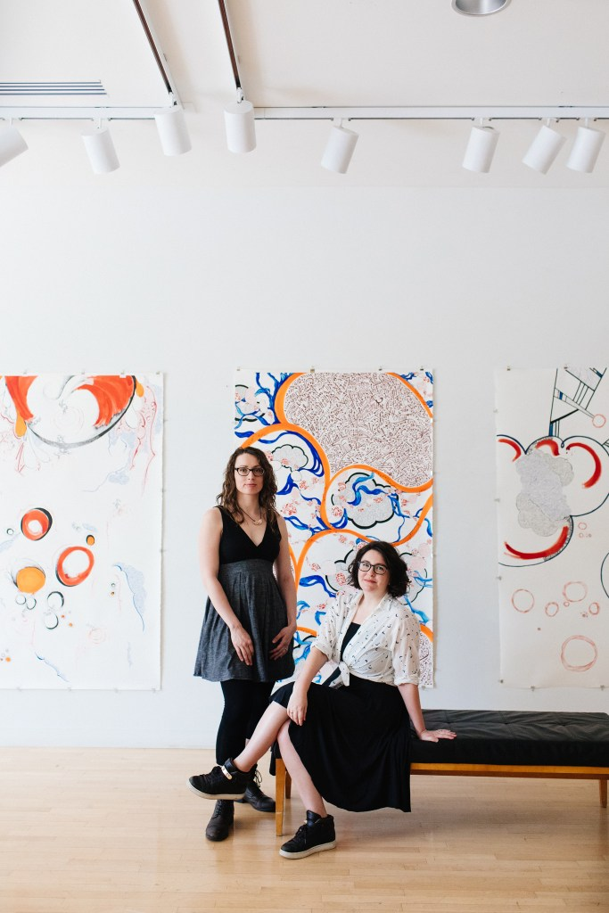 Maria & Fiona at the Taplin Gallery, Arts council of Princeton, 2017