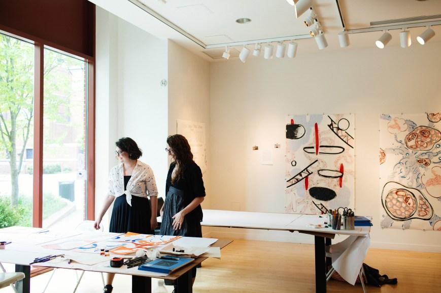 Studio space, Taplin Gallery, Princeton 2017