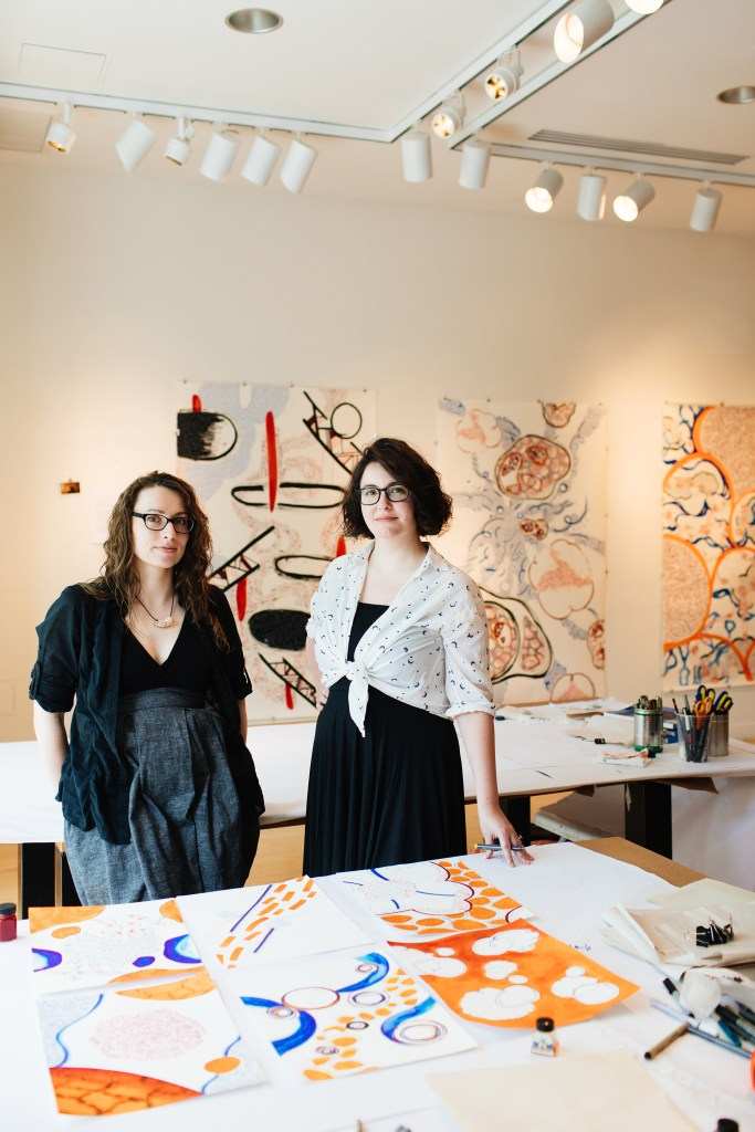 Maria Doering and Fiona Chinkan, Collaborative Residency Princeton 2017