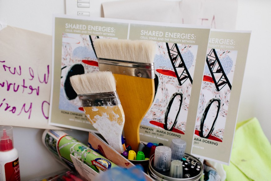 Art Supplies in the studio in Princeton 2017
