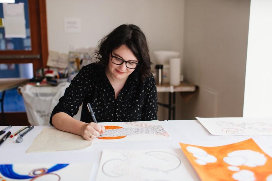 Artist at work, Princeton 2018