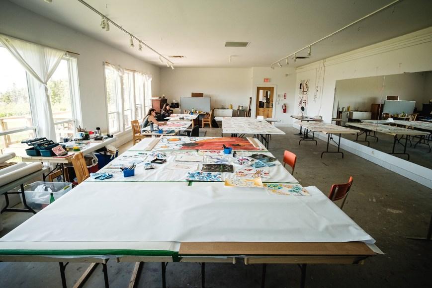 Artist in the studio, Inverness 2018