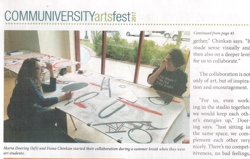 Feature in Communiversity ArtsFest Newspaper