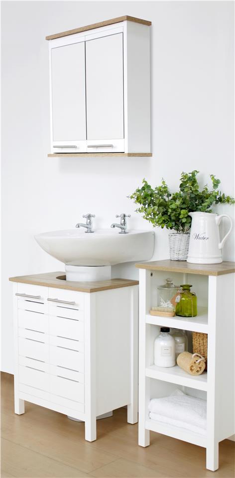 Eden 3 Piece Bathroom Storage Unit Set Suite Cupboard Undersink Mirrored Cabinet Ebay