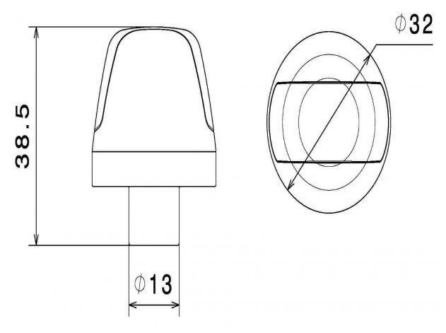 Rizoma Sguardo Bar End Indicator Marker Light Black LED