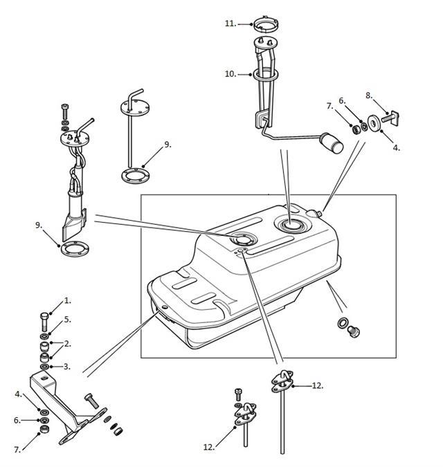 Land Rover Ninety & Defender 90 Under Seat Fuel Tank