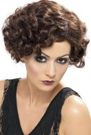 fringe flapper wig 1920s curly
