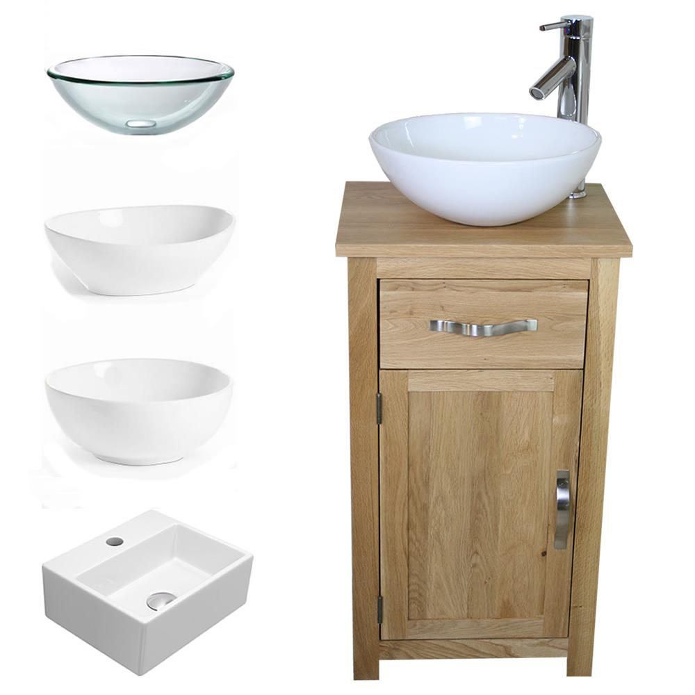 Small Bathroom Vanities With Sink Details About Solid Oak Bathroom Cabinet Compact Vanity Sink Small Bathroom Vanity Units
