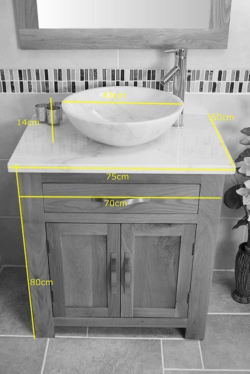Bathroom Vanity Unit Oak Modern Cabinet Wash Stand