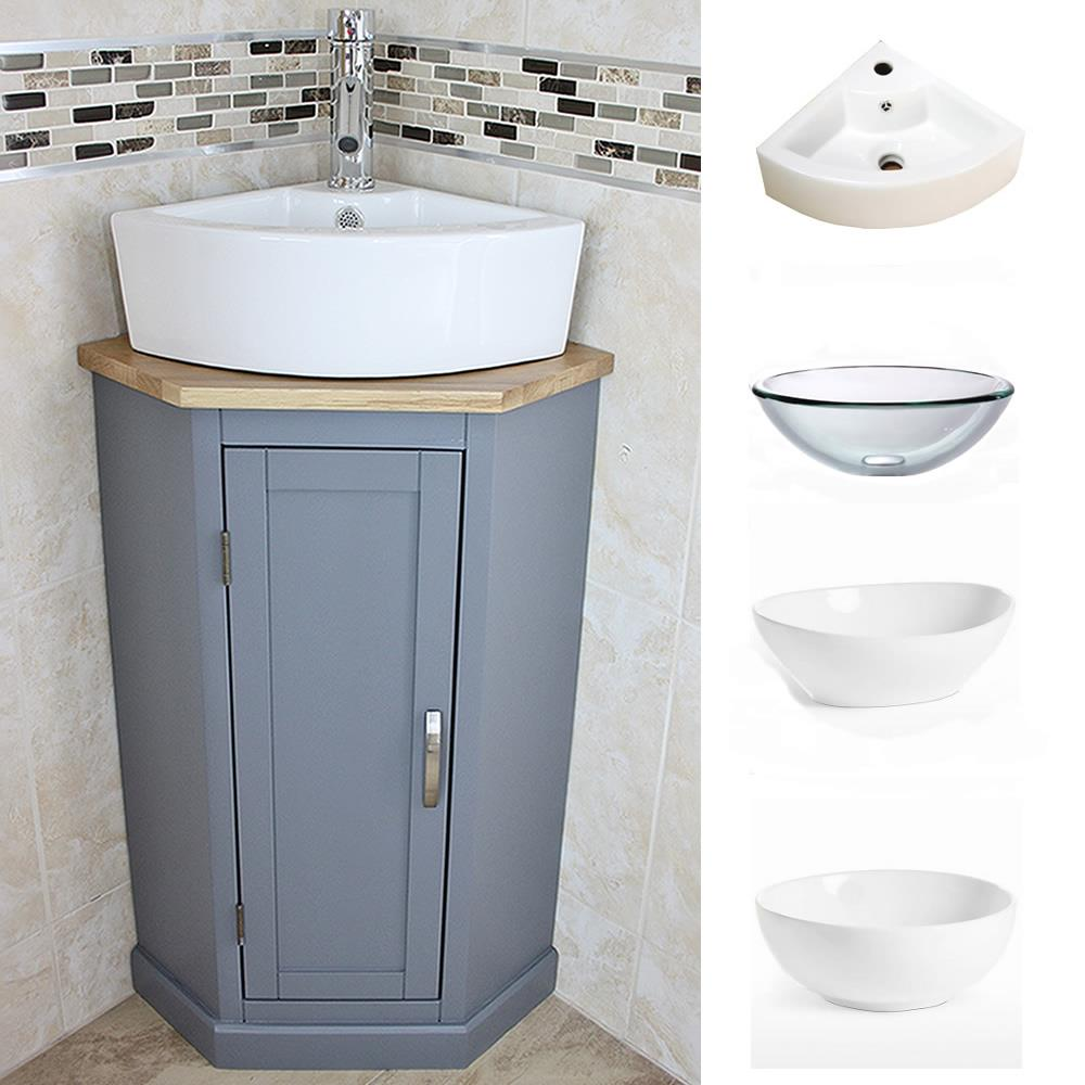 bathroom corner compact vanity unit