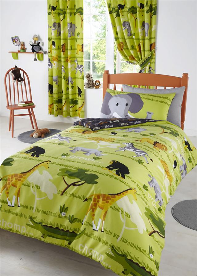 CHILDRENS BEDDING KIDS BED SETS DUVET COVERS MATCHING CURTAINS
