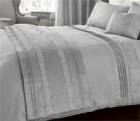 NEW LUXURY DIAMANTE BEDDING - DUVET COVER BED SETS - LINED ...