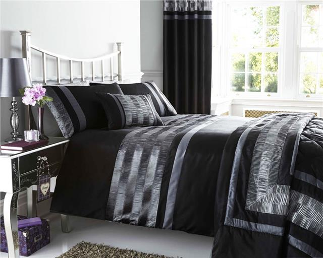 NEW PINTUCK DUVET COVER SETS CUSHIONS MATCHING LINED EYELET