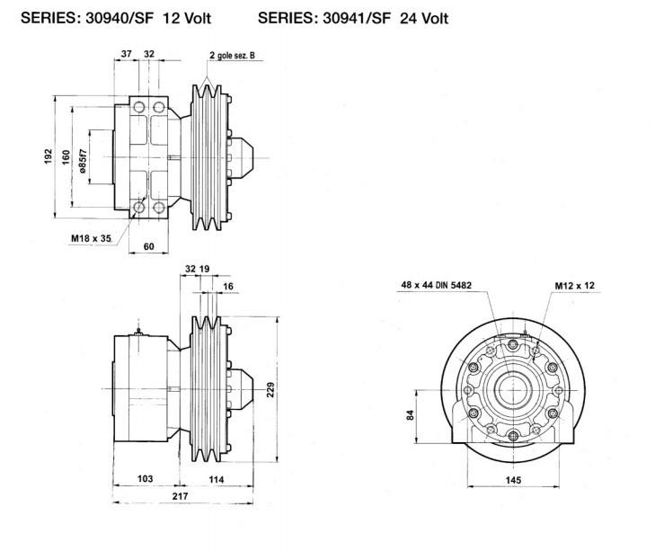 Flowfit Hydraulische Elektromagnetische Kupplung 12V 14