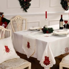 Christmas Dining Chair Covers Uk Mia Moda High Recall Tablecloths Table Runner Napkins Or Cushions