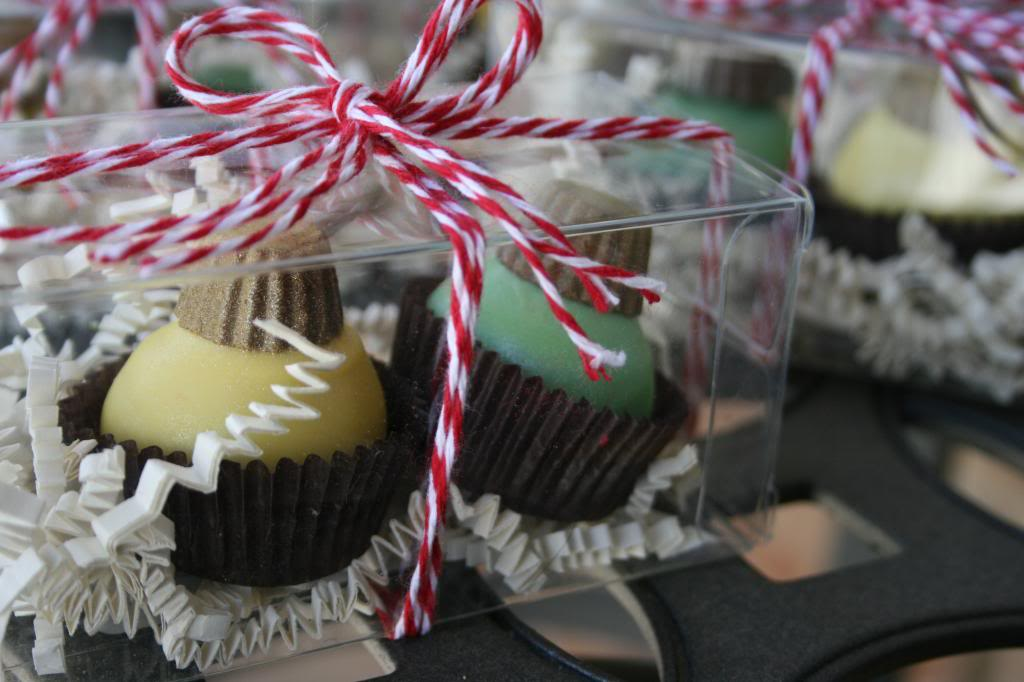 Cake Ball Ornament Party Favors