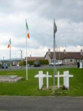 Flags at republican hunger strick memorial. (c) Gordon GILLESPIE