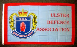 Flag of Ulster Defence Association (UDA). (c) Gordon GILLESPIE