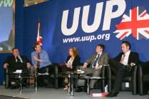 Ross HUSSEY, Duncan MORROW (Community Relations Council), Lesley MACAULAY, Bill MANWARING, and Kenny DONALDSON (c) Allan LEONARD