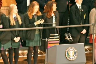 A school girl checks her mobile phone (c) Allan LEONARD @MrUlster