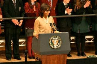 US First Lady Michelle OBAMA (c) Allan LEONARD @MrUlster