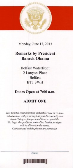 President Obama at Waterfront Hall, Belfast, Northern Ireland (c) Allan LEONARD @MrUlster