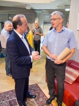 Tony MACAULAY and Geoff HILL (Journalist) (c) Allan LEONARD @MrUlster
