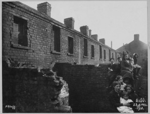 Boundary Street Area: Crozier's Row, rere of Houses No.s 104, 105, 106A on plan. Streets in photo: Crozier's Row, Boundary Street. PRONI Ref: LA/7/8/HF/3/50
