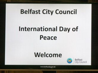 International Day of Peace. City Hall, Belfast, Northern Ireland. (c) Allan LEONARD @MrUlster