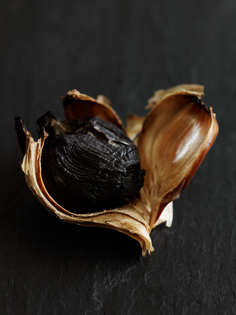 Black garlic Photography by Aaron McLean