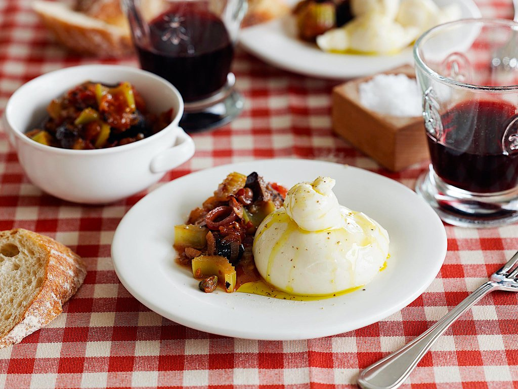 Caponata with Burrata