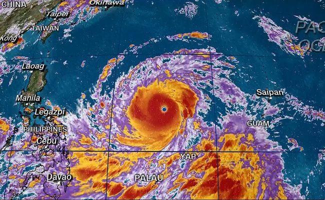 Super Typhoon Mangkhut Bears Down On Philippines