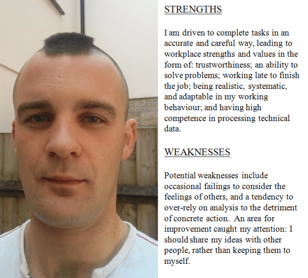 Image and text relating to the Insights Profile of Chris Larham.