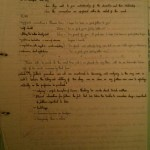 Image of the essay plan drawn up for Chris Larham's piece of writing on 'The Remains of the Day' (2001/2002, B+).
