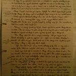 Image of the first marked page of Chris Larham's essay on 'King Lear' (19 out of 25, 2001/2002).