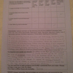 Image of the feedback sheet critiquing Chris Larham's essay discussing Anthony Giddens' quotation on the nature of subjectivity [64%, 2007].