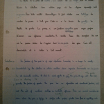 An image of Chris Larham's ungraded French A Level translation exercise [2001/2002].