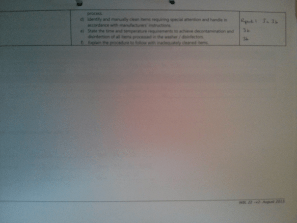 An image of the second page of the Assessment Checklist for BTEC Unit Three [2015].