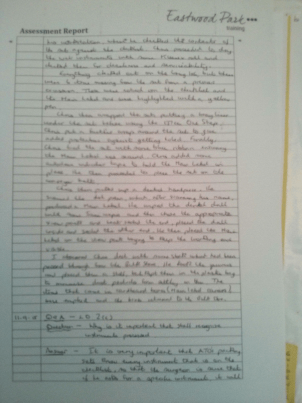 An image of the second page of the Assessment Report pertaining to BTEC Unit Four [2015].
