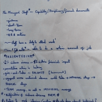 Image of the first page of Chris Larham's handwritten notes, taken on 31.1.17 when attending a session entitled 'Managing Sickness and Other Absences in the Workplace'.