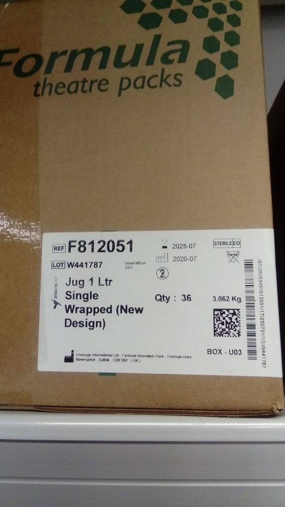 Box of 1 Litre Single Wrapped Jugs