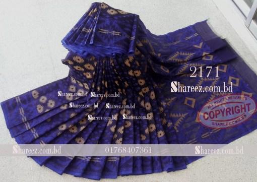 Half Silk Jamdani Saree 2171