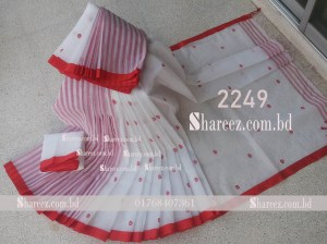 Cotton Saree Buti Work 2249