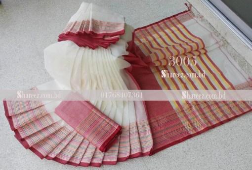 Cotton Saree Katha Bunon 3005