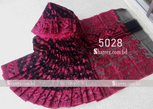 Half Silk Jamdani Saree 5028