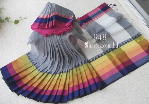Rainbow Cotton Saree 948