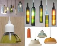 Canecas, garrafas e taças antigas podem ser luminárias incríveis