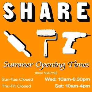 SHARE summer opening hours